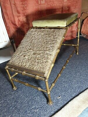 Amazingly Rare!! Victorian Edwardian Solid Brass Faux Bamboo Shop Shoe Stool