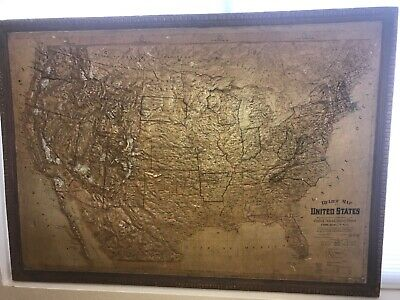 United states relief map Central School Supply House 1899
