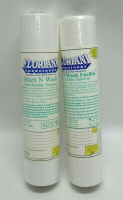 Floriani Set Of 2 Stitch N Wash Water Soluble Tearaway Rolls ~ Nip