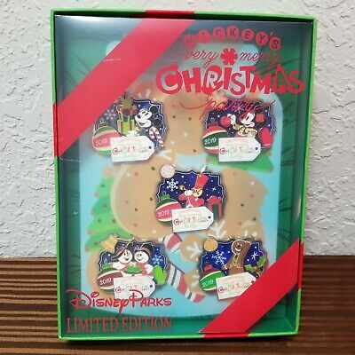 2019 Disney Parks Mickey's Very Merry Christmas Party MVMCP Pin Box Set LE 500