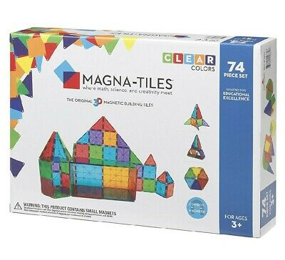 MAGNA-TILES Clear Colors 74 pc set  - New in Box