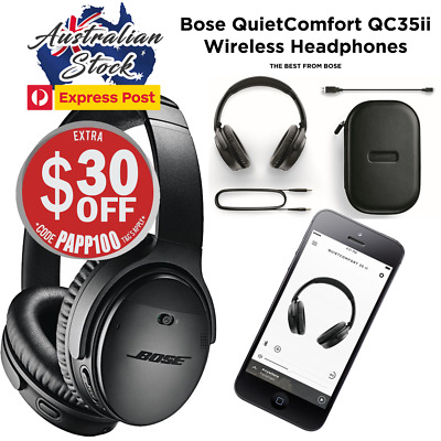 Bose QC35 II Quiet Comfort Noise Cancelling Wireless Headphones QC35ii - Black