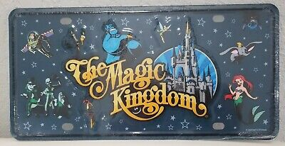 Disney Parks Magic Kingdom, Ariel, Dumbo, Stitch Lumiere License Plate Character