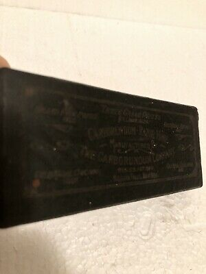 Vintage Carborundum Co Straight Razor Hone Sharpening Stone Original Box