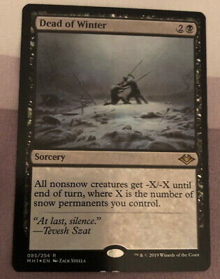 1x Dead of Winter - x1 Foil MTG Modern Horizons Magic the Gathering
