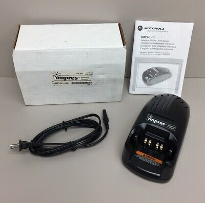 Motorola Impres WPLN4111AR V3.30 Adaptive Battery Charger In Box W/ Manual