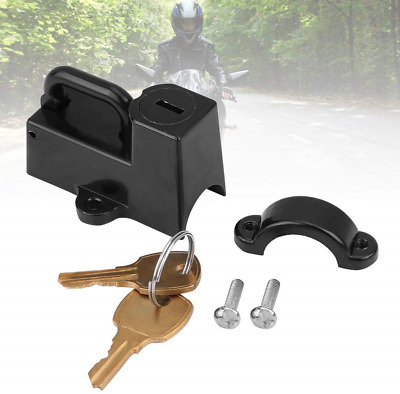 Motorcycle Helmet Lock 1-1/4 to 1-1/2 4232 For Kuryakyn Cruiser Black