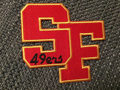 "San Francisco 49ers NFL vintage CLASSIC embroidered iron on patch 3.5"" X 3"""