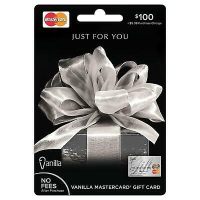 $100 GIFT CARD. FREE SHIPPING! ACTIVATED. Non Reloadable. No Fees After Purchase