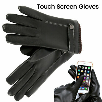 Men Women Winter Gloves Touch Screen Snow Windproof Waterproof Leather Thick US