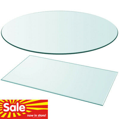 """Table Top Glass Clear Tempered Replacement Protection Cover 11""""-47""""Size"""