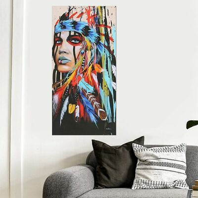 Fashion Woman Abstract Indian Canvas Oil Painting Print Picture Wall Art Decor