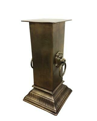 Manor Large Pillar Antique Brass Finish Decorative Home Garden Decor 39x39x77.5c