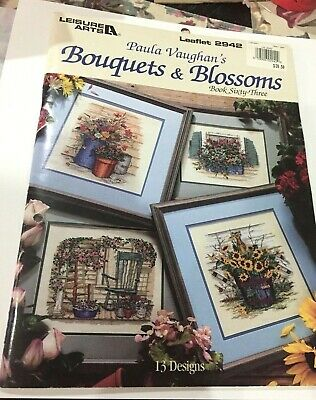 Bouquets & Blossoms Counted Cross Stitch Pattern Book  by Paula Vaughan