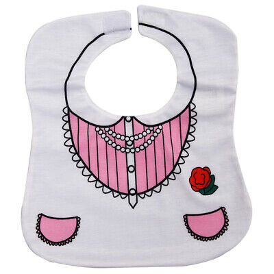 White Cute Toddler Nutrition Baby Bib  X8T1