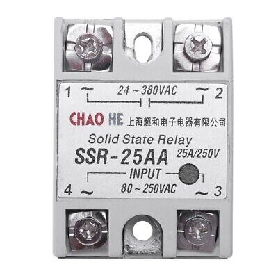 Temperature Contoller 4 Terminals Solid State Relay SSR-25 AA A1F3