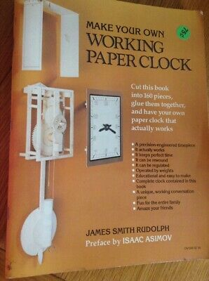 make Your Own Working Paper Wall Clock, All You Need Is This Book Scissors Glue