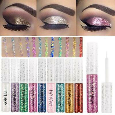 Glitter Liquid Eyeshadow Waterproof Long Lasting Shimmer Eyeliner Cosmetic 1PC