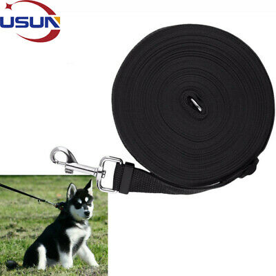 Usun 15M Pet Dog Training Lead Puppy Leash Collar Harness Long Line Strong Rope