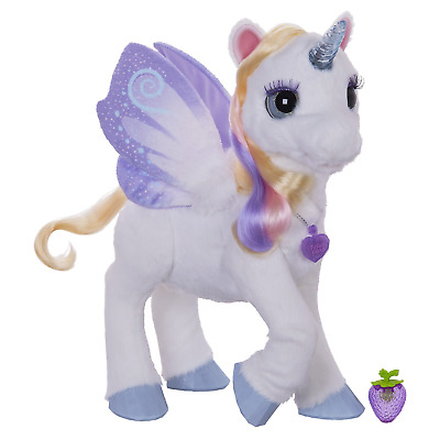 furReal StarLily, My Magical Unicorn Interactive Plush Pet Toy, Light-up Horn, 4