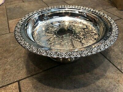 International Sterling Silver GRANALA Pedestal Compote Bowl Ornate Gorgeous
