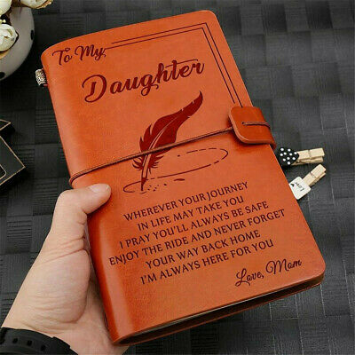 Retro Diary Journal Notebook Travel Sketchbook Leather Cover Classic Record Baby