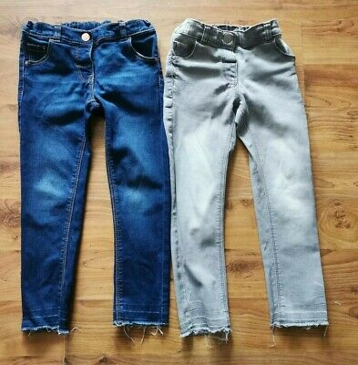 Two Pairs Of Girls Next Skinny Jeans 4-5 Years