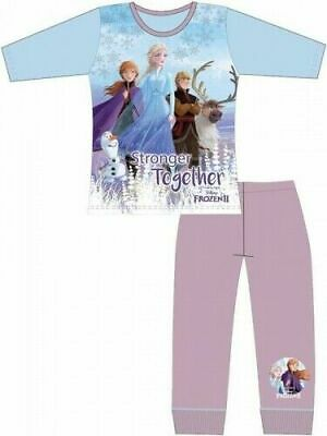 Disney Frozen II Elsa Pyjamas Childrens Kids Girls Purple PJs Age 4-10 Years