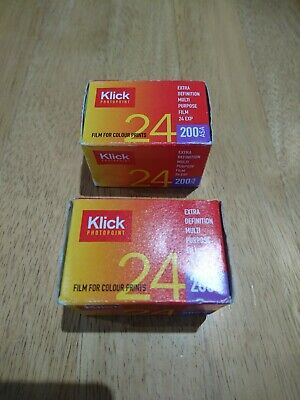 Klick 135 camera Film, 200 ASA, 24 Exposure,  new and sealed, but Expired