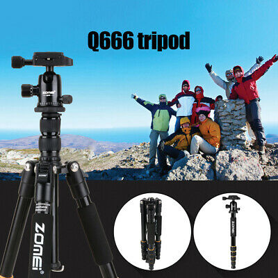 ALS_ Zomei Q666 Portable Metal Tripod Travel Monopod Stand For DSLR Camera Camco