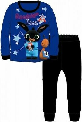 Bing Pyjamas Flop Childrens Kids Boys Black Blue PJs Age 18 Months -5 Years