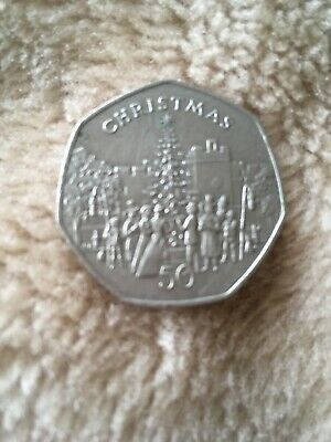 Christmas 50p Isle of Man 1982