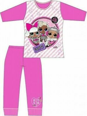 LOL Surprise Pyjamas Childrens Kids Girls Pink PJs Age 4-10 Years