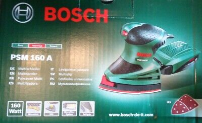 BOSCH Multi Sander Mouse PSM 160 A BRAND NEW SEALED EU 2 PIN OR UK 3 PIN OPTION