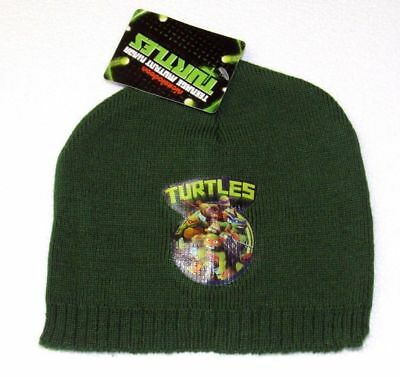 new ONE SIZE GREEN TURTLES Boys Girls Childs kids NICKELODEON Beanie Hat BNWT
