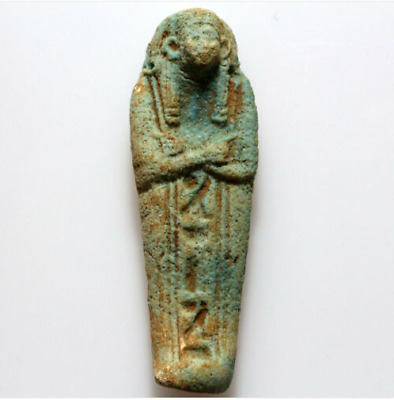 Ancient Egyptian Faience Shabti Statue Circa. 1000-500 BC