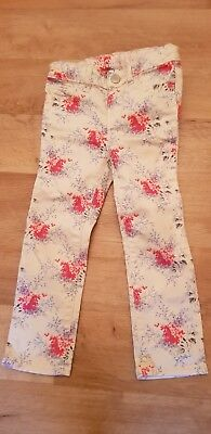 GAP Girls Floral Trousers Size 3 Years