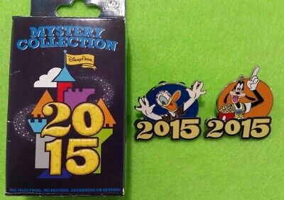 Disney Parks Donald Duck & Goofy 2015 Mystery Collection Trading Pin.