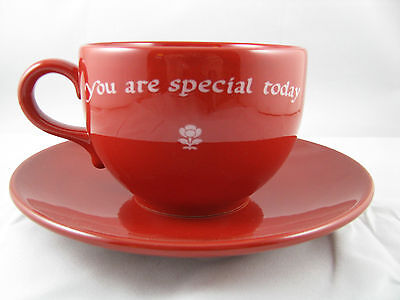 """You Are Special Today"" Jumbo Cup/Saucer Waechtersbach German Stoneware"