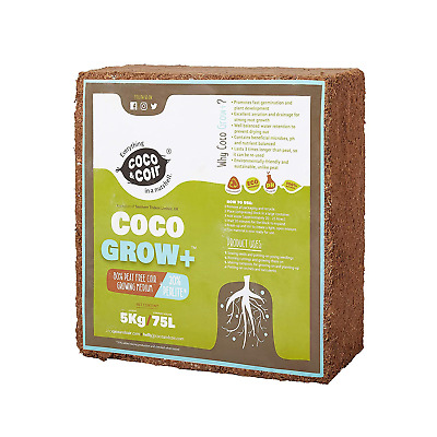 Coco Coir With Perlite - 5Kg 70L   Coir Perlite Mix   100% Natural Growing Media