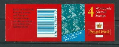 2000 GT1 BOOKLET WITH 4 X 65p WORLDWIDE AIRMAIL STAMPS COMPLETE