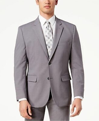 $650 Nautica Men's 38R Gray Check Modern Fit 2 Button Suit Jacket Blazer Coat