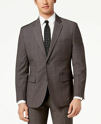 $650 Nautica Men's 38S Gray Modern Fit Check Suit sport Jacket Blazer