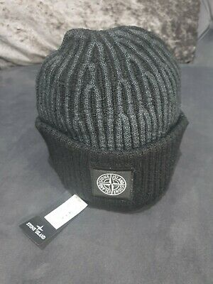 Stone Island beanie hat Rib Wool BLACK Cp Company brand new limited edition