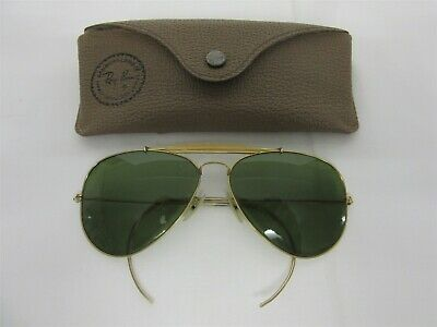 Vintage B&L Ray Ban Aviator sunglasses with coil arms - Gold filled 1/30 10K