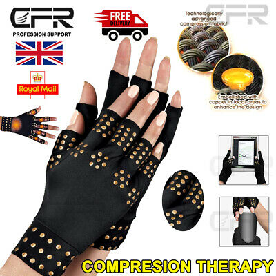 Arthritis Gloves Compression Wrist Magnetic Support Brace Carpal Tunnel Pain UK