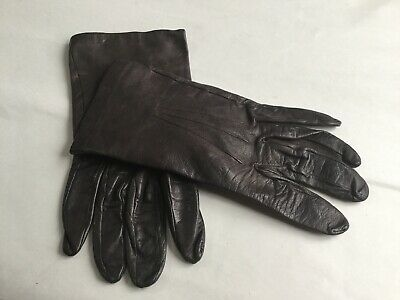 Vintage Womens Milore Soft Leather Gloves Size 6 1/2