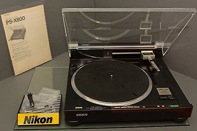 Sony ps-x800,turntable,original headshell, serviced,mint-(9+) with new dustcover