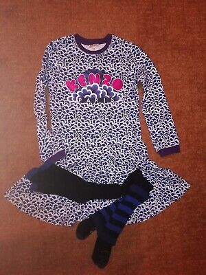 Kenzo dress and tights set bnwot age 10