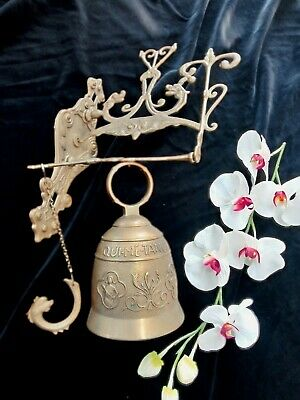 Antique Vintage French Bronze Monastery Sanctuary Bell Very Ornate Door Church